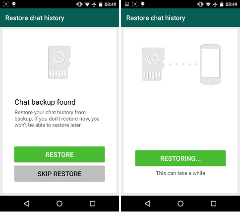 How to transfer whatsapp to new phone-restore