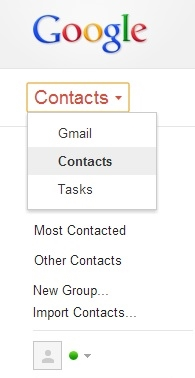 contacts in google account
