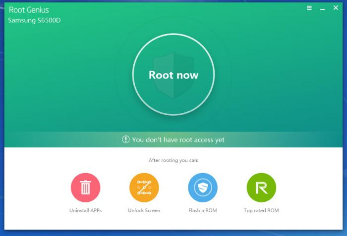 Samsung Root-Software - root genius