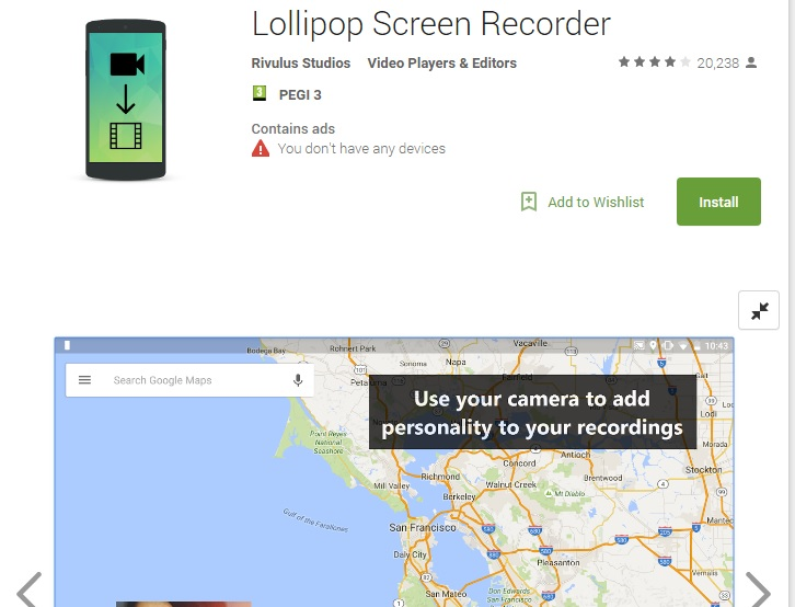 lollipop screen recorder