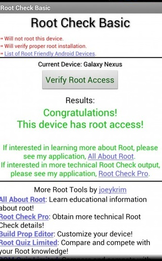 root checker result