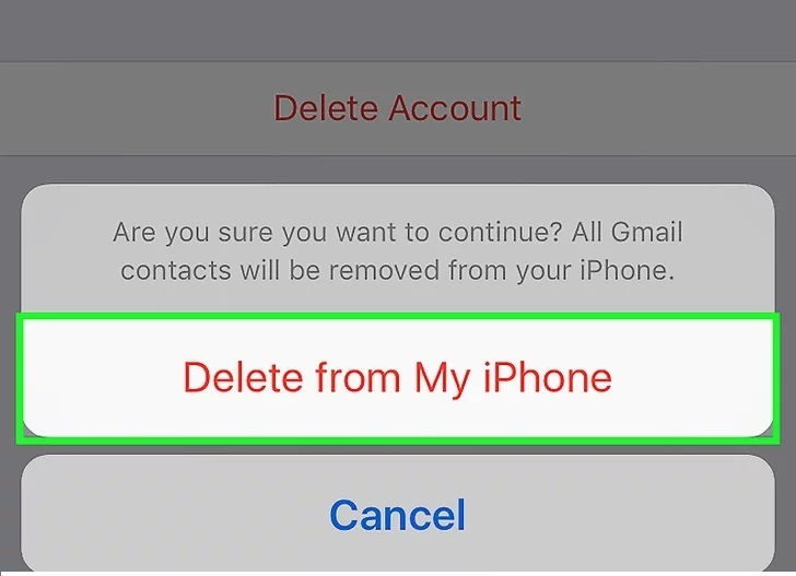 delete from my iphone