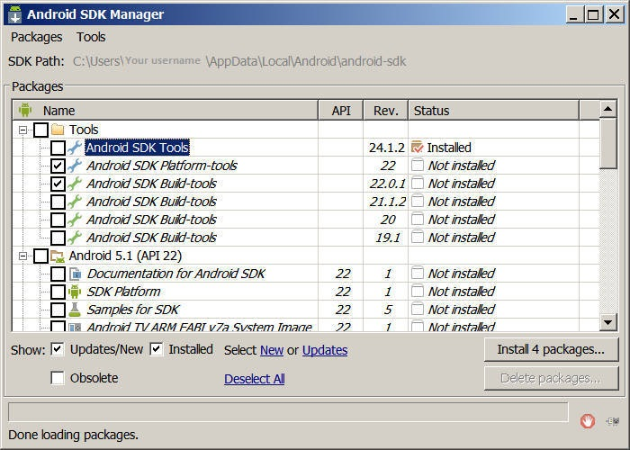 Android SDK-Manager