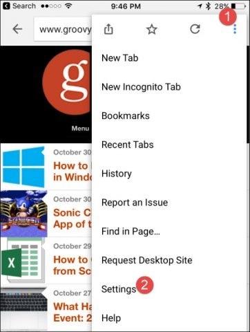 如何清除iphone / ipad缓存 - 谷歌浏览器设置