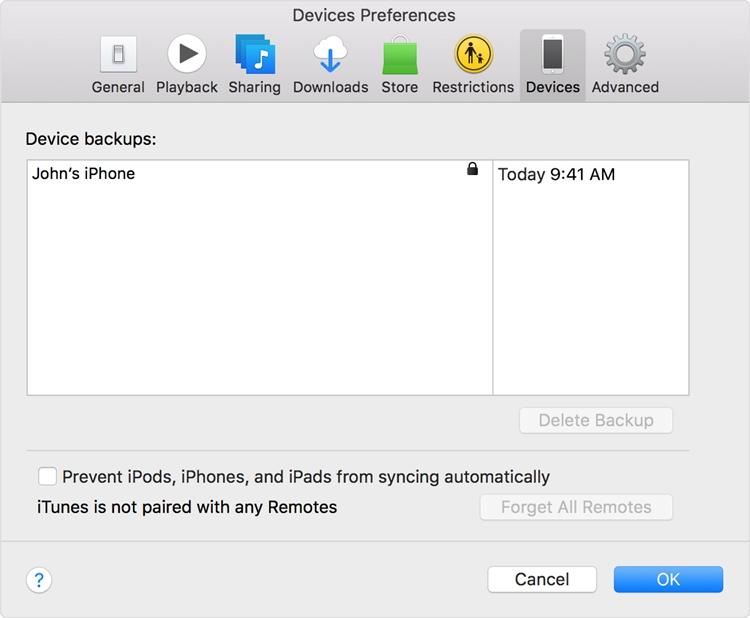 iPhone auf iTunes sichern