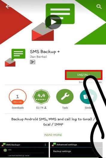 installare l'app backup sms
