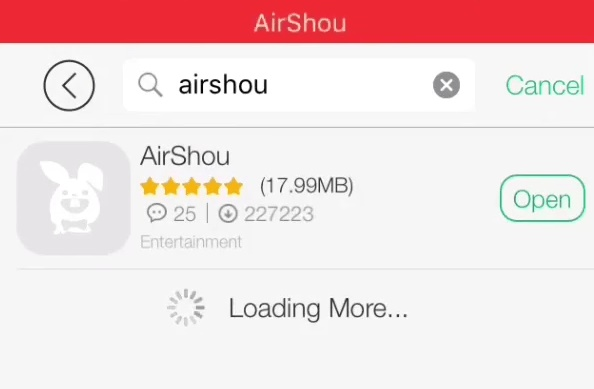 find airshou on tutu