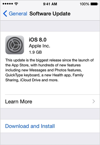update ios on iphone