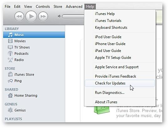 Mise à jour d'iTunes