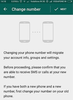 Old WhatsApp Account on my New Phone-setting