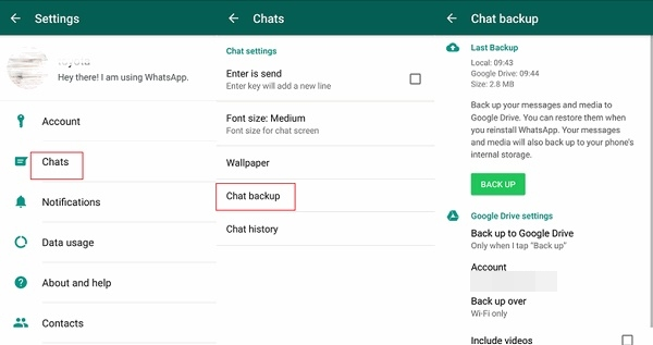 Old WhatsApp Account on my New Phone-Backup