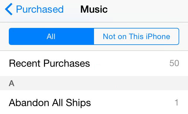 itunes purchase history-purchased music