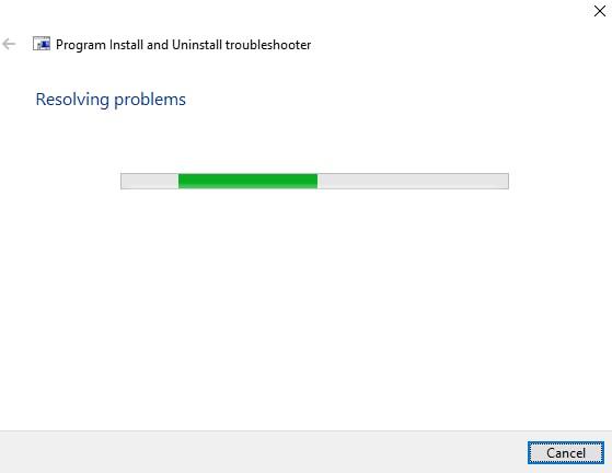 resolving problem