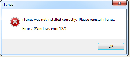 Windows Error 127