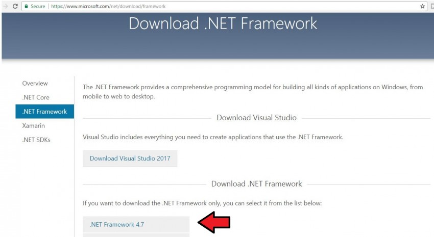 download .NET framework