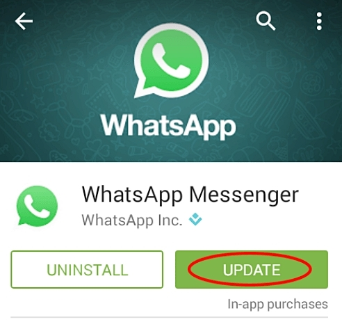 fix whatsapp problems-Unsupported application