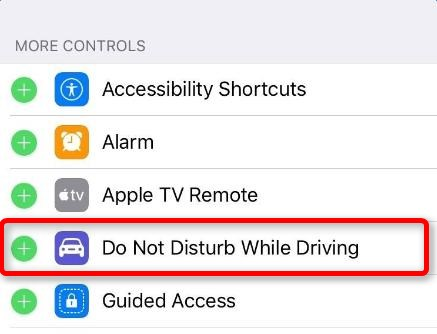 add to control center