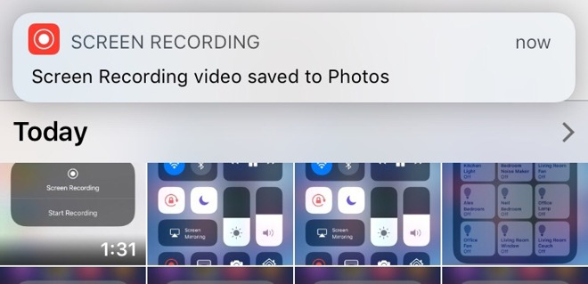 screen recording video saved