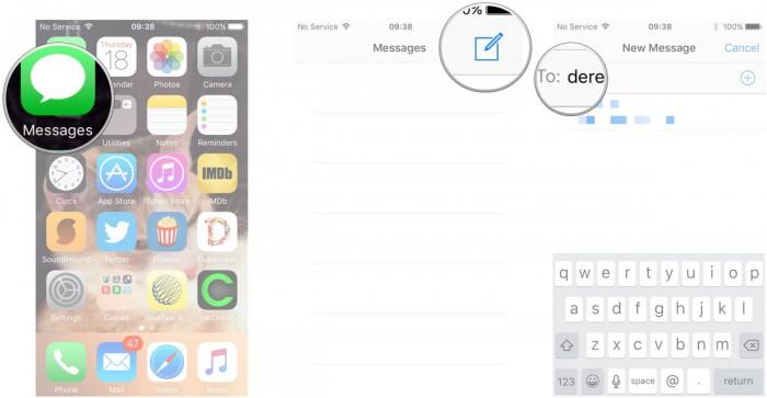 launch message app