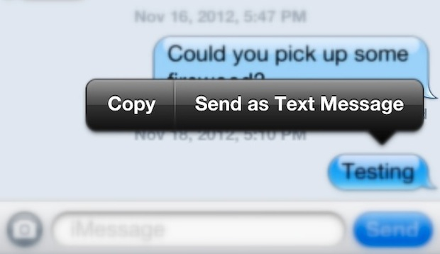 send as text message