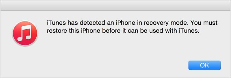 itunes ripristina l'iPhone