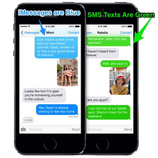 imessage vs text message