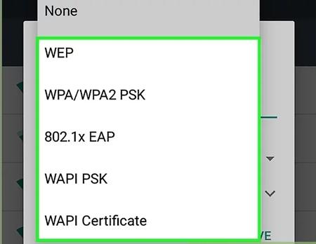 """Select """"WPA/WPA2-PSK"""""""