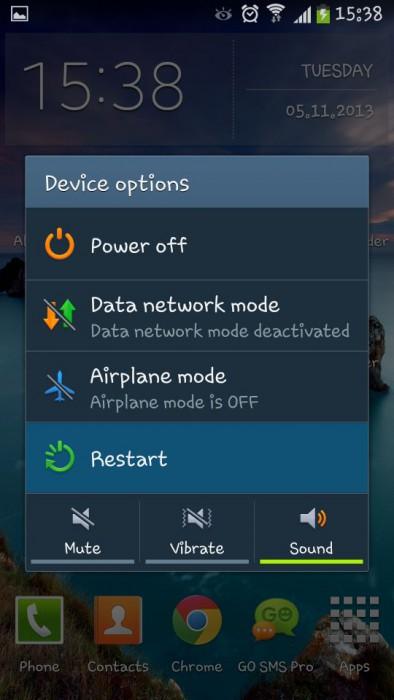 restart device