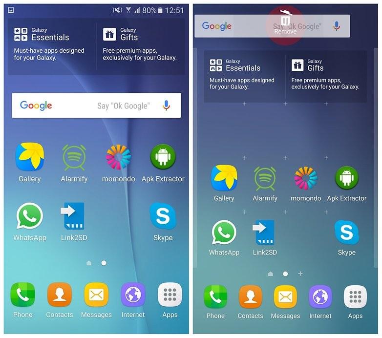 delete android widgets