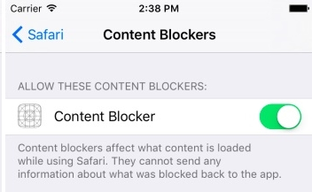 use content blockers