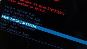 effacer la partition de cache