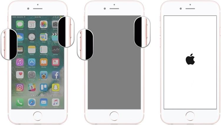 重启iphone 7