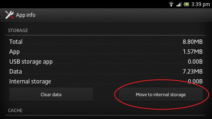 move to internal storage