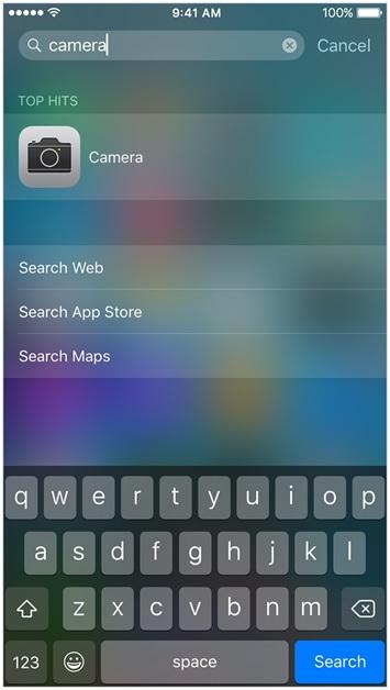 iphone camera app missing