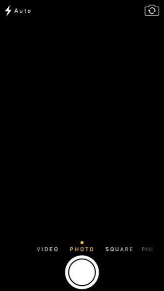 iphone camera black screen