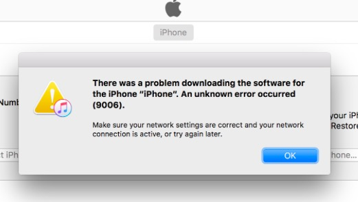 4 Ways To Fix Itunes Error 9006 Or Iphone Error 9006 Dr Fone
