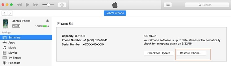 how to fix a bricked iphone-restore iphone with itunes