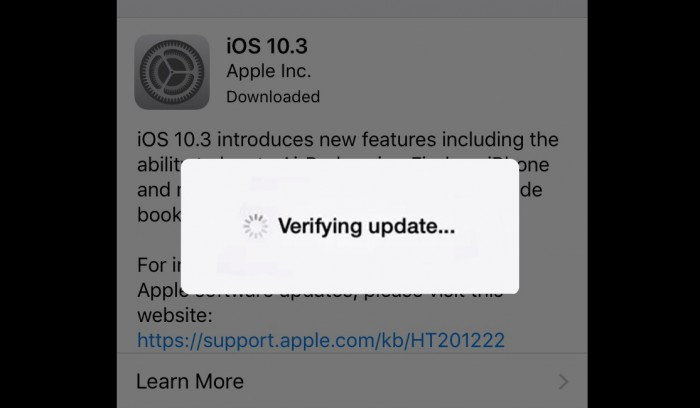 iphone stuck on verifying update