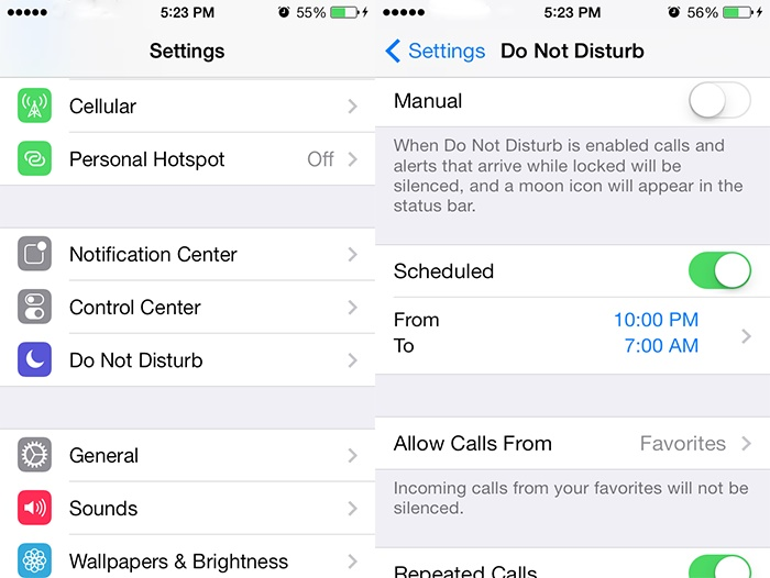 fix iphone not ringing - turn dnd mode off