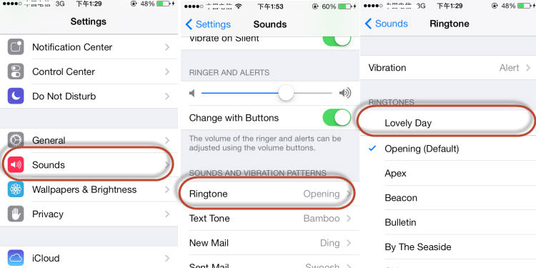 fix iphone not ringing - change a different iphone ringtone