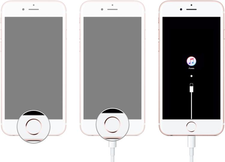 fix iphone blue screen - iphone in recovery mode