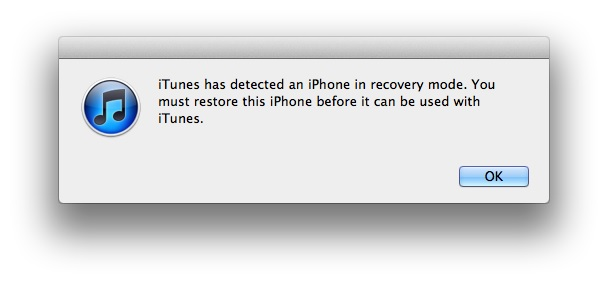 itunes restaurera l'iphone en mode de récupération