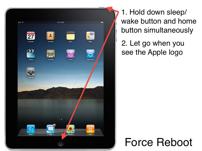 force restart ipad to fix ipad issues