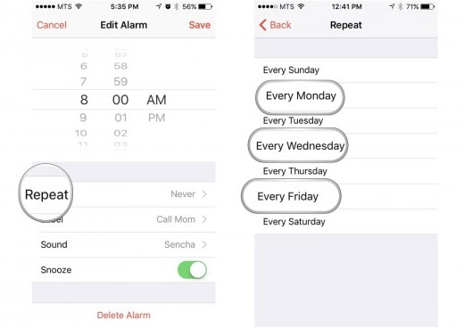 iphone alarm not working-check iphone alarm settings