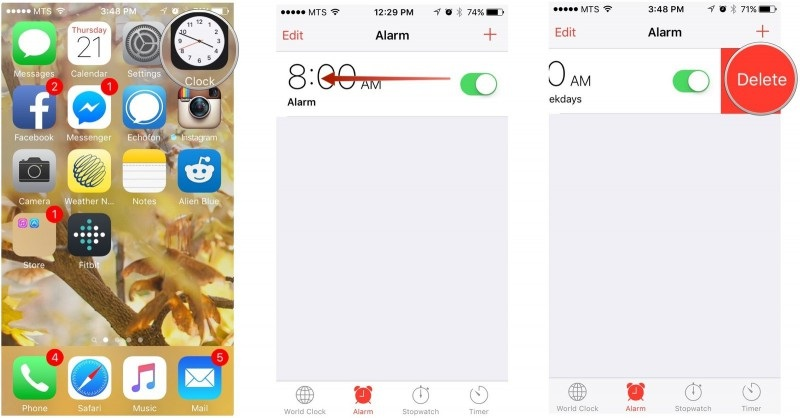 iphone alarm not working-refresh alarm details
