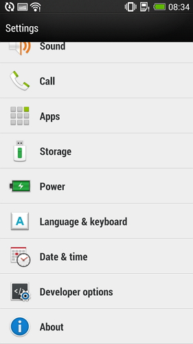 enable usb debugging on htc one - step 2
