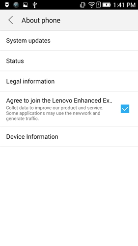 enable usb debugging on lenovo k5 k4 k3 - step 2