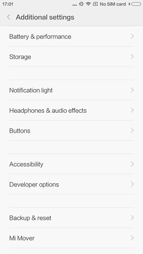 enable usb debugging on xiaomi mi5 mi4 - step 2