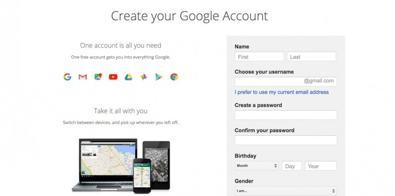 bypass gmail phone verification-submit your date of birth