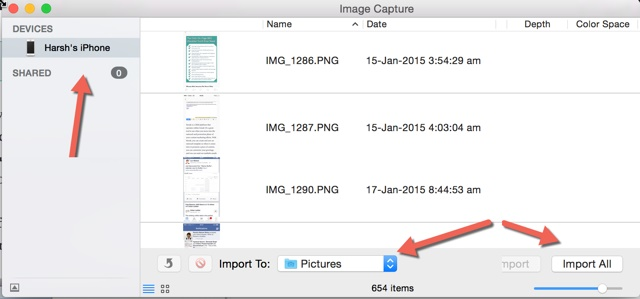 transfer iphone videos using image capture